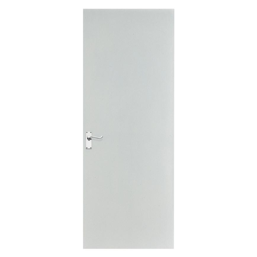 Howdens Jenson White Primed Flush MDF Door
