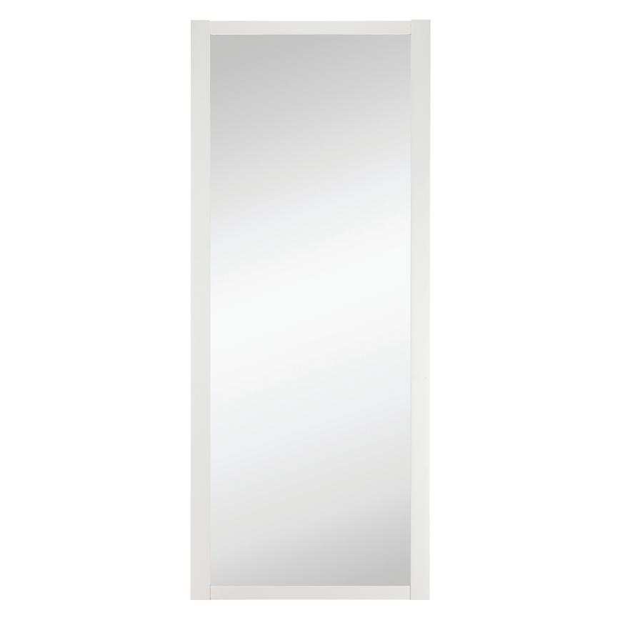 Howdens Shaker White Frame Mirror Sliding Wardrobe Door