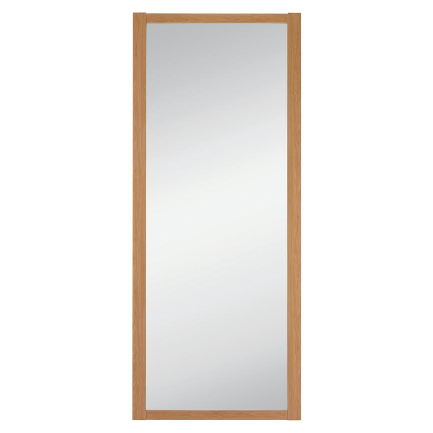 Howdens Shaker Oak Frame Mirror Sliding Wardrobe Door