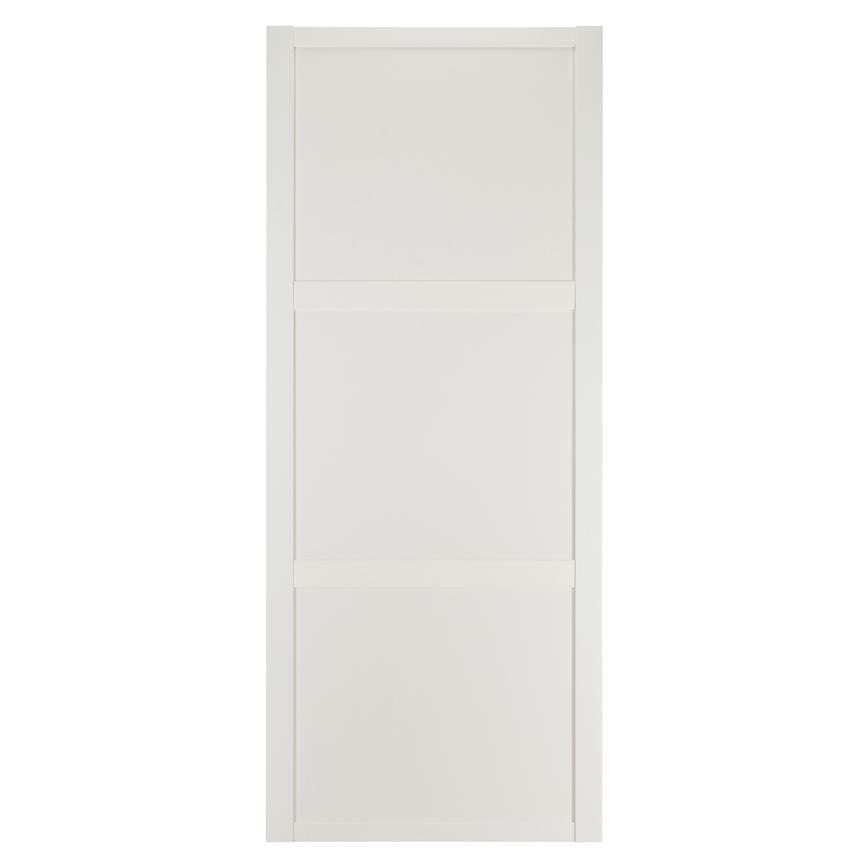 Howdens Shaker White Frame White Panel Sliding Wardrobe Door
