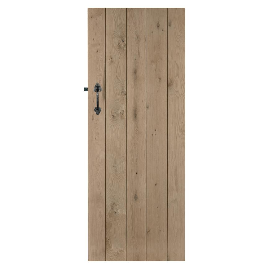 Howdens Solid Rustic Ledged Oak Door