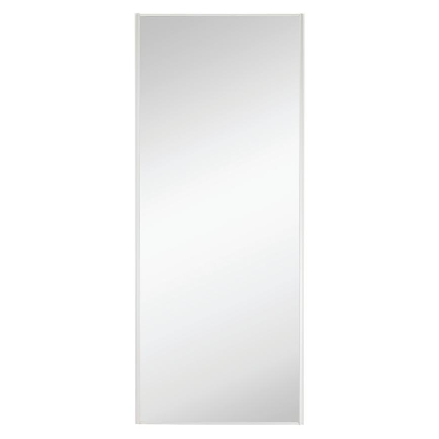 Howdens White Frame Mirror Sliding Wardrobe Door