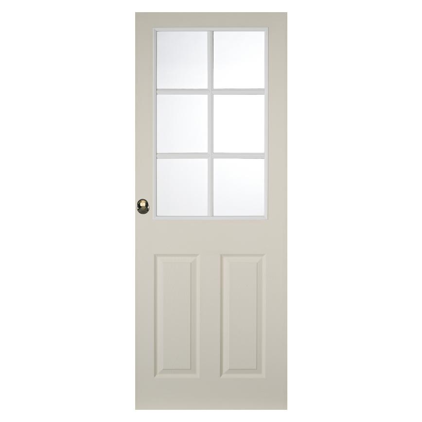 Howdens Colonial Grained 6 Panel 6 Light Moulded Glazed Door