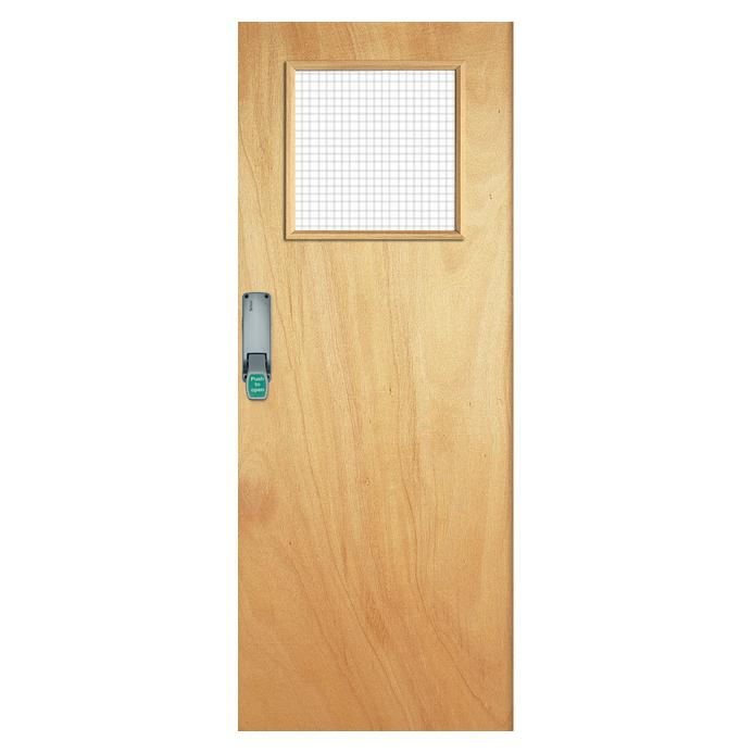 Howdens Dunsfold Flush External G/O Glazed Fire Door
