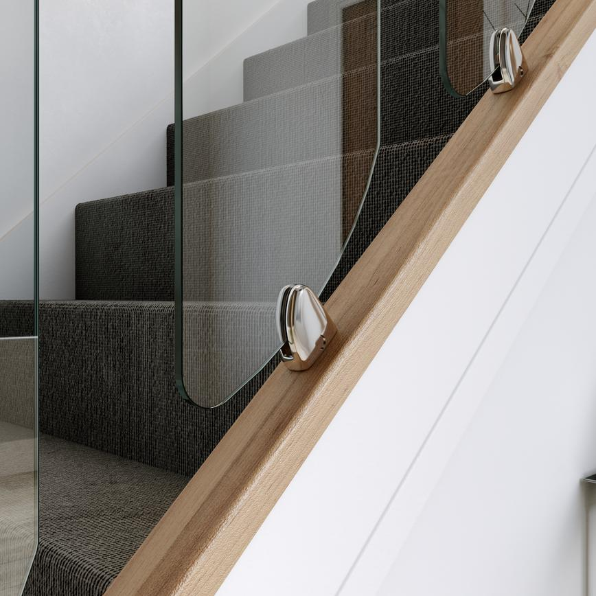Seville Chrome Brackets for stairs