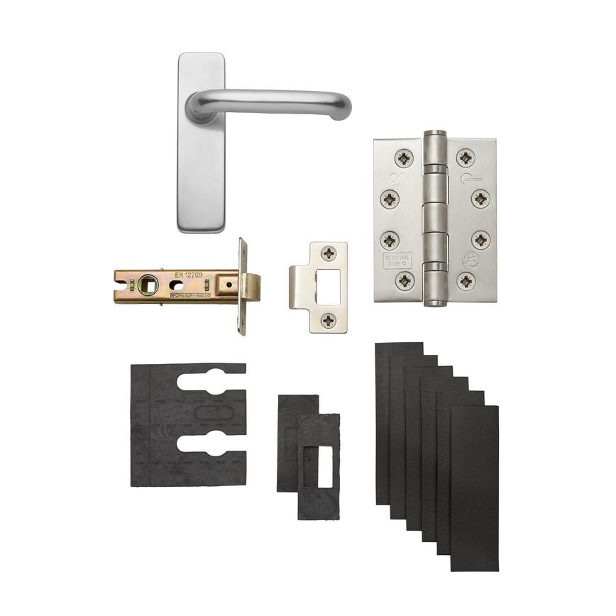 H Round Bar Aluminium Fire Rated Latch Pack