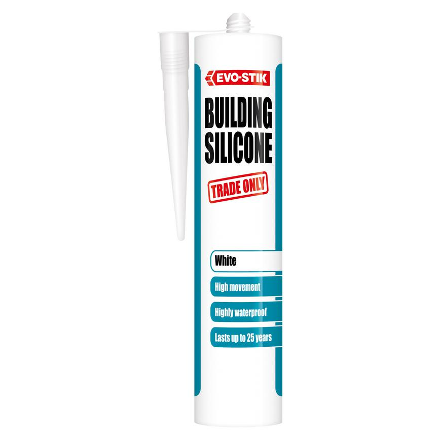 Evo stick building silicone sealant  white