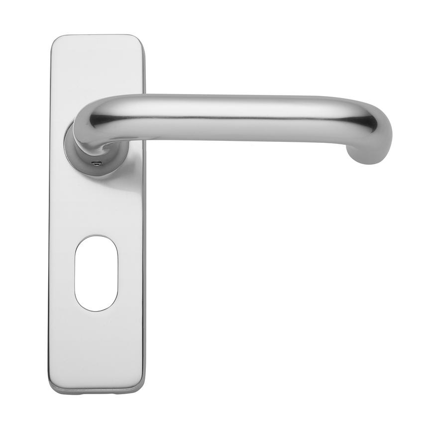 Round Bar Budget Oval Lever on Backplate Lock Aluminium Door Handle