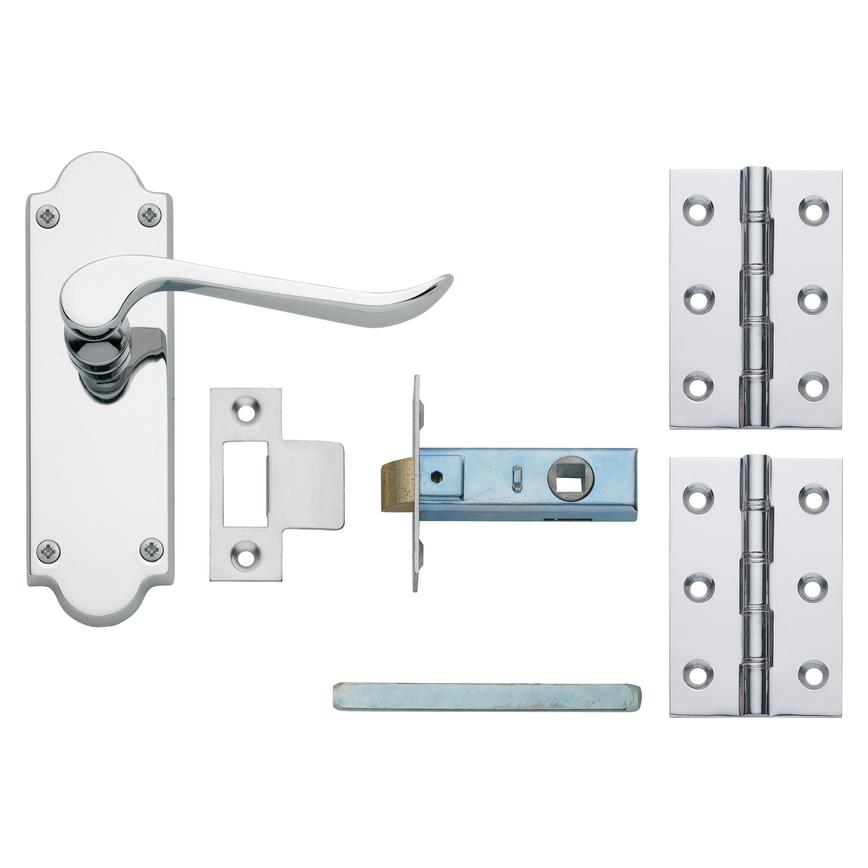 Chrissi Chrome Latch Handle Pack
