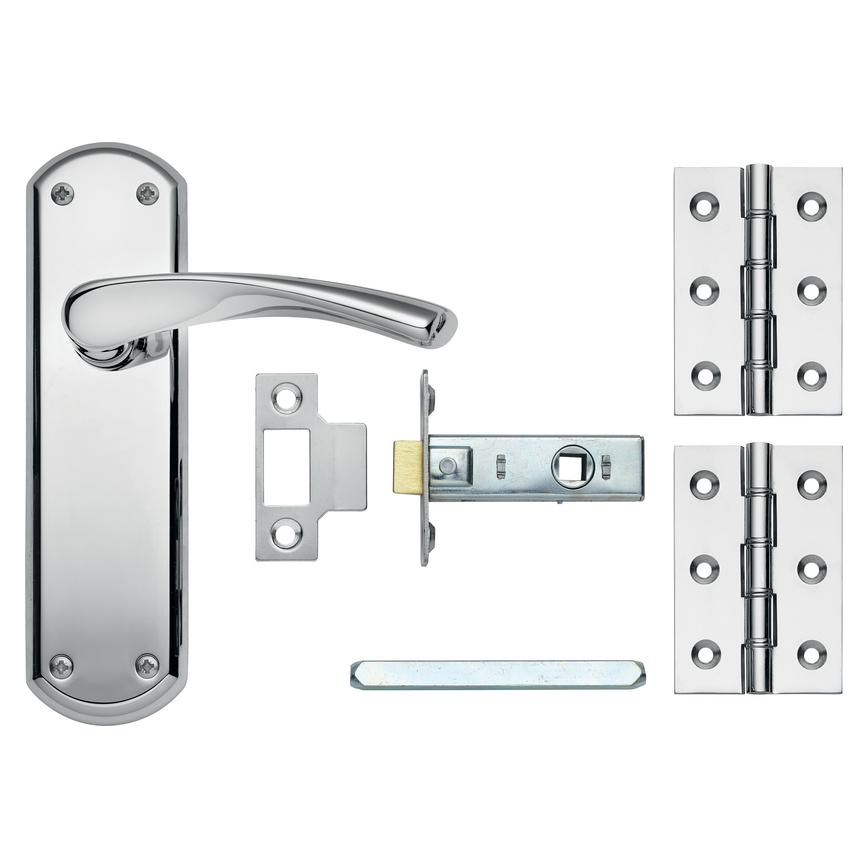 Garda Chrome Latch Handle Pack