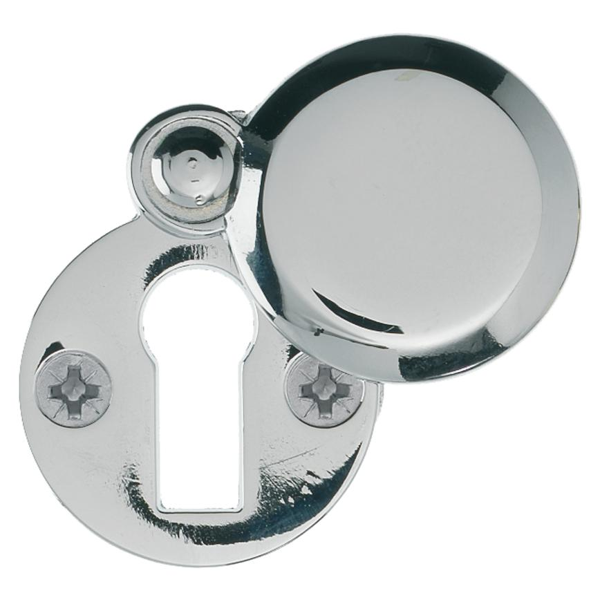 Chrome Round Covered Escutcheon
