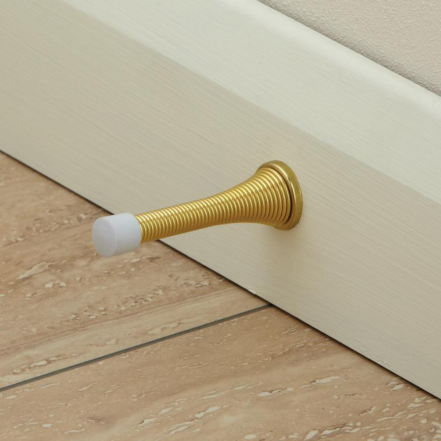 Brass Finish Flexible Door Stop
