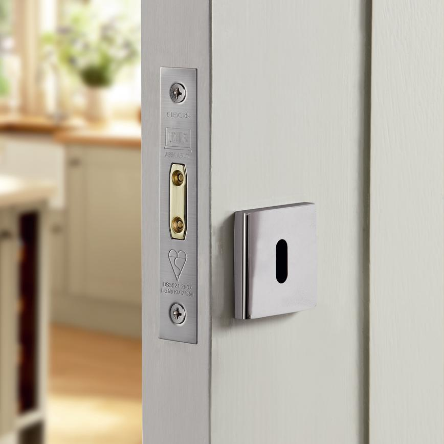 Chrome Square Escutcheon