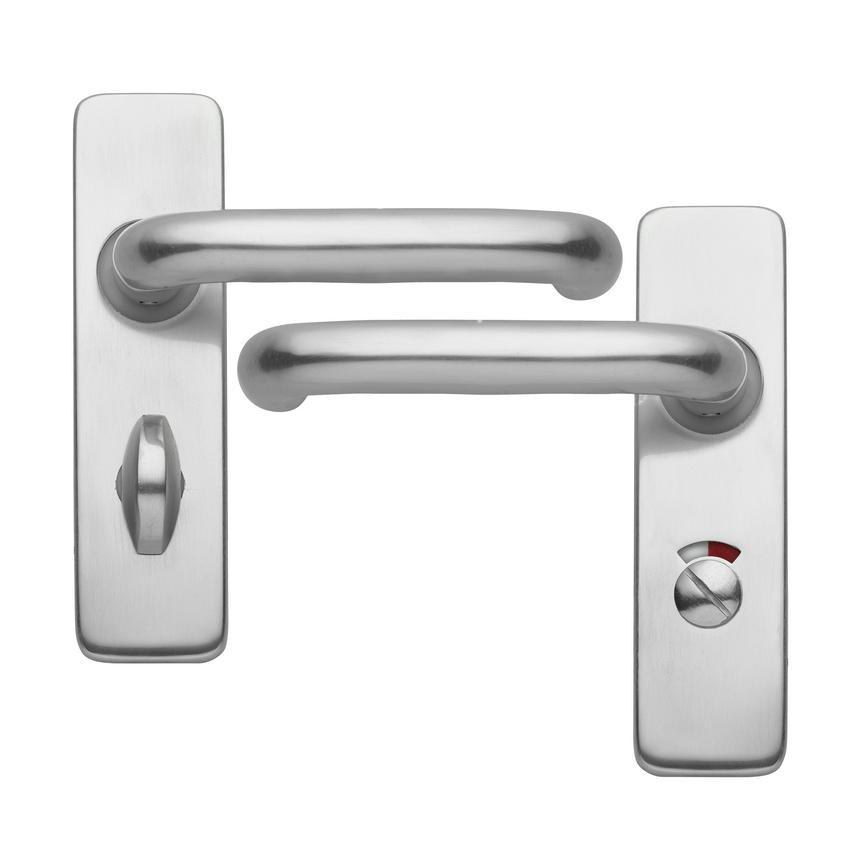 Round Bar Budget Lever on Backplate Bathroom Aluminium Door Handle