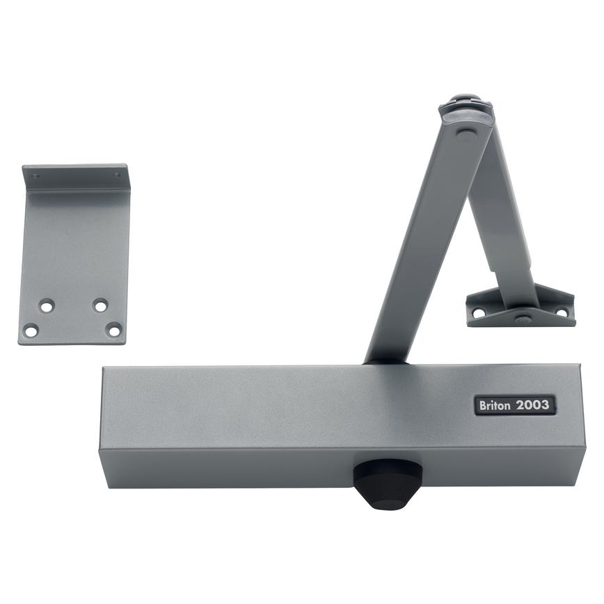 Briton 2003.SES Door Closer Fixed Size 3 SIlver