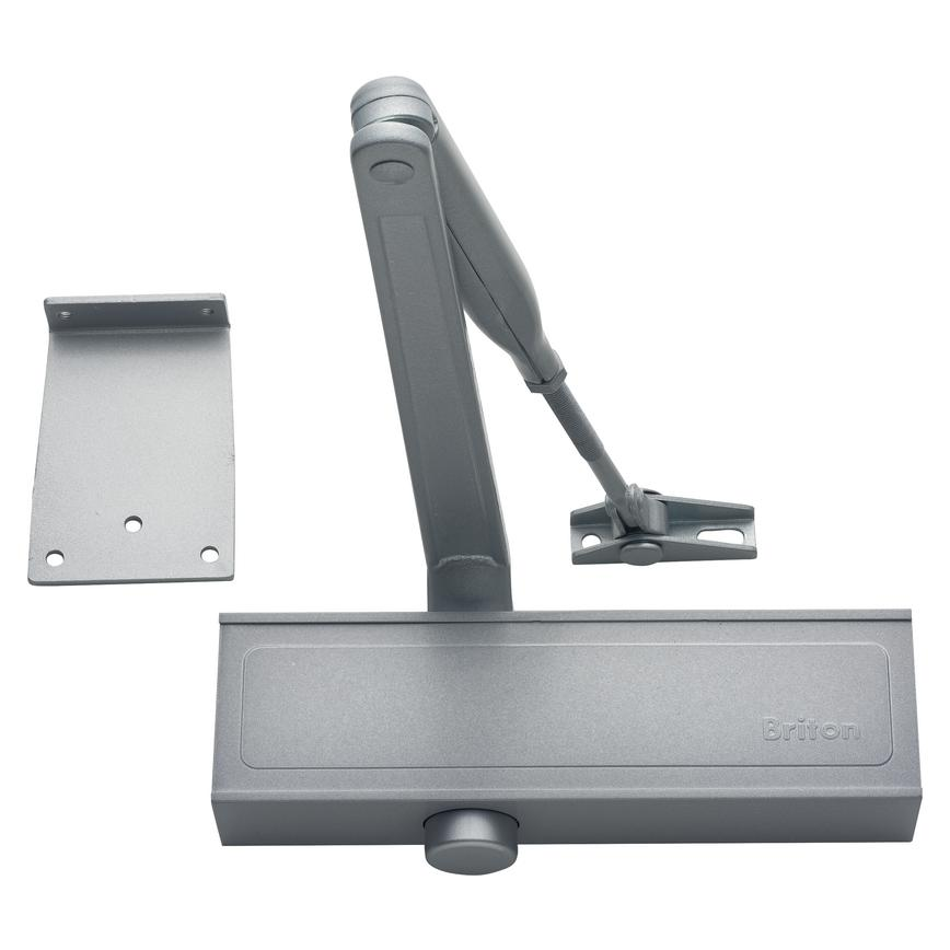 Briton 1110.SES Door Closer Adjustable Size 2-4 Silver