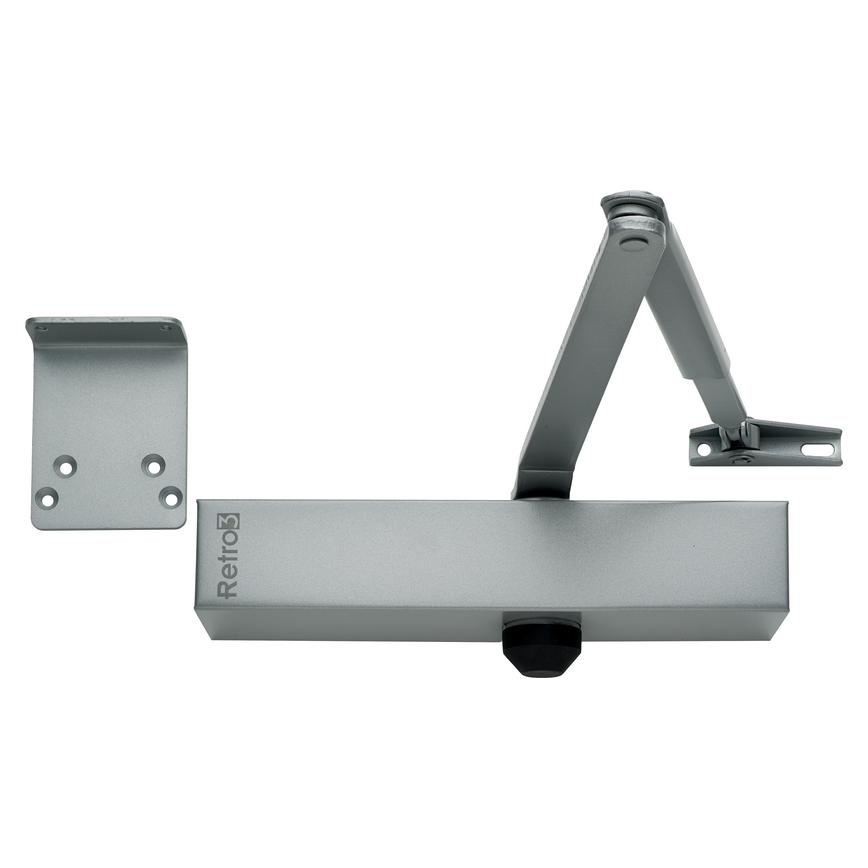 Union Retro 3 Door Closer Fixed Size 3 Silver