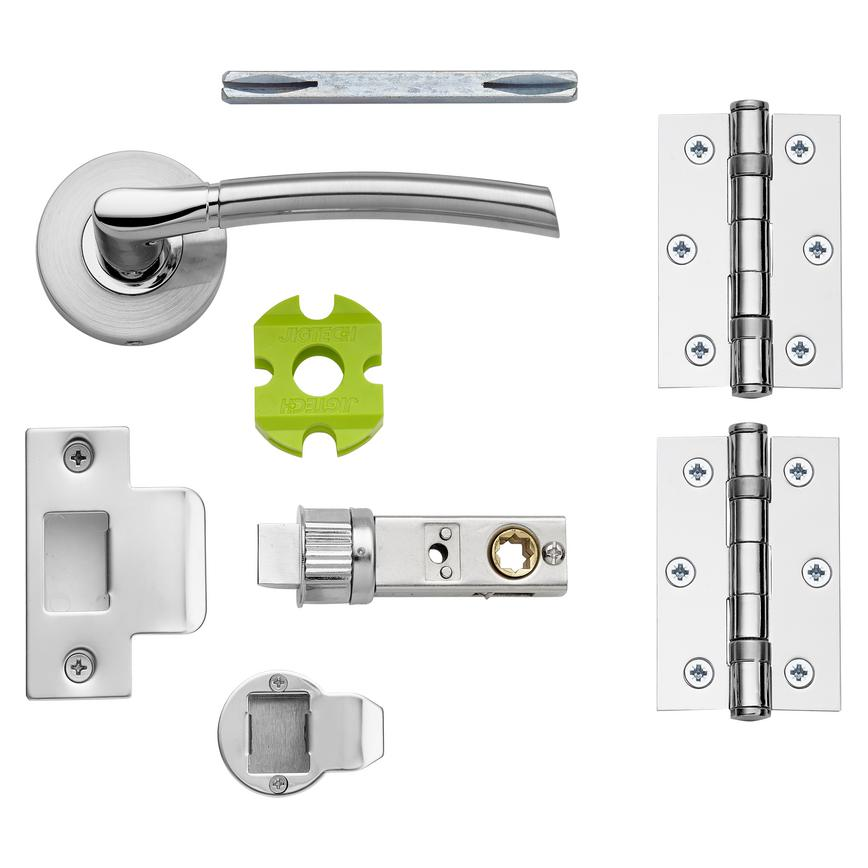 Newington Lever on Rose Jigtech Door Handle Pack