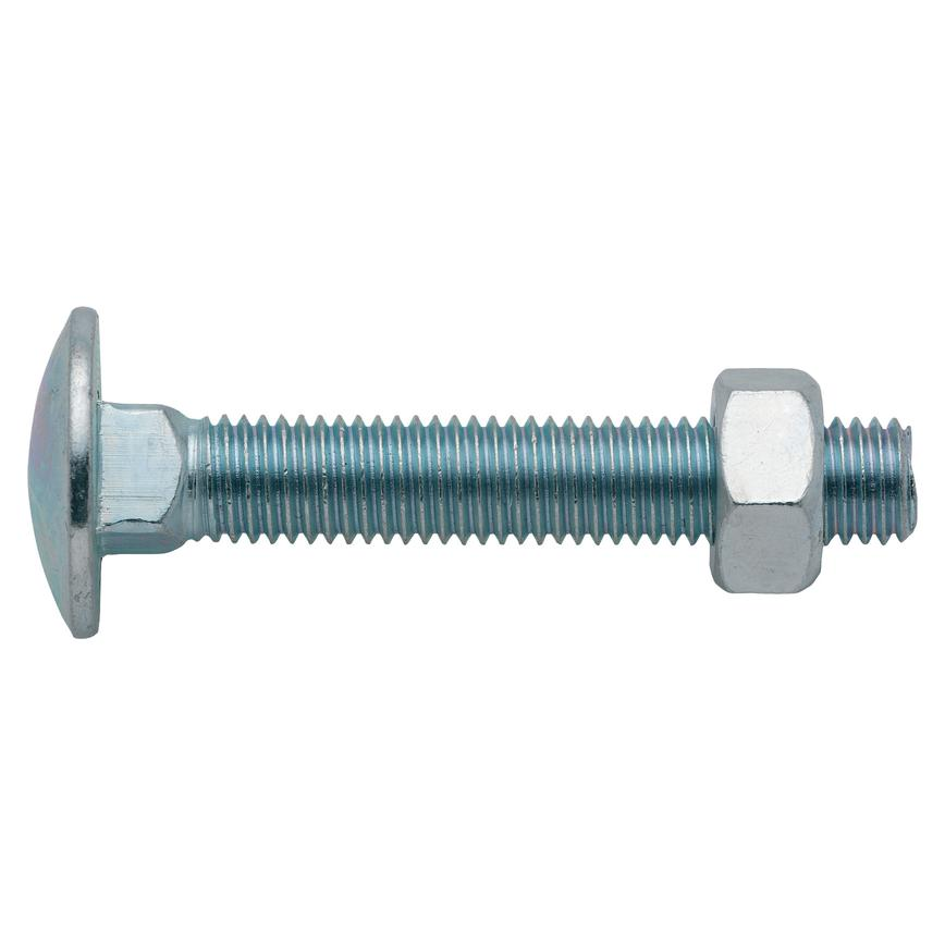 Coach Bolt and Nut M12 x 75mm
