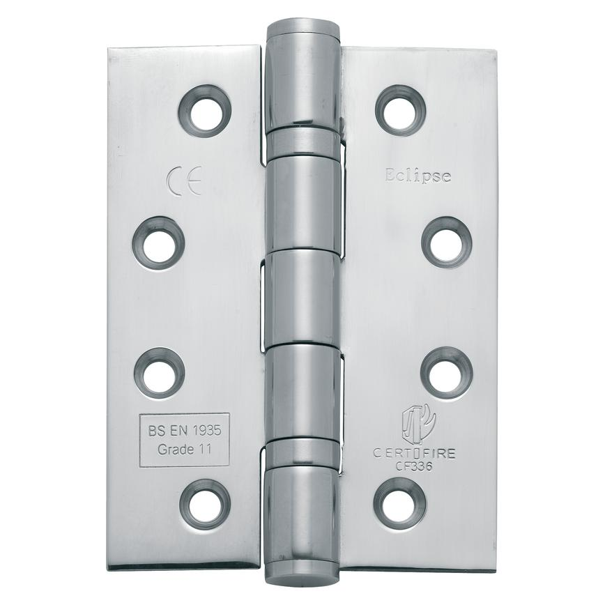 "4"" Satin Chrome Steel Grade 11 Ball Bearing Hinge"