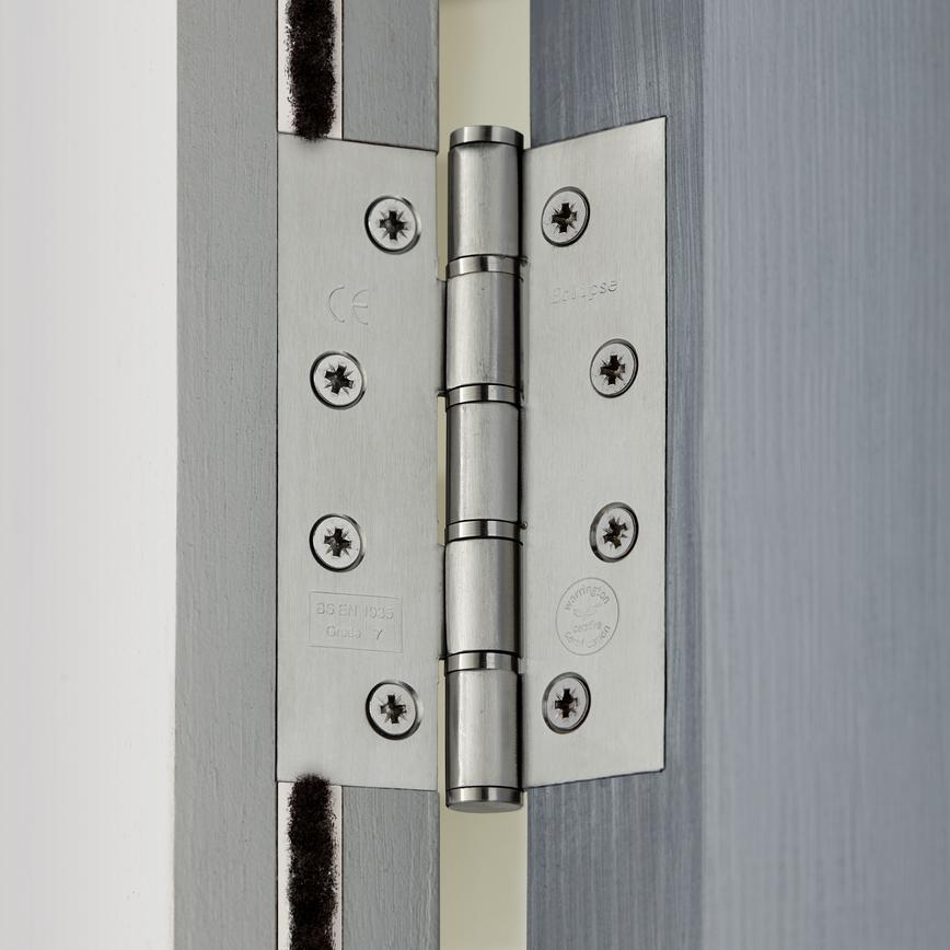 Satin Stainless Steel Washered Butt Hinge Grade 7