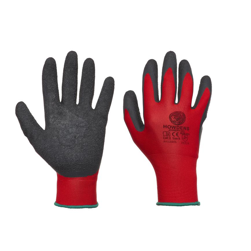 Howdens Superlight Non Disposable Red Large General Handling Glove