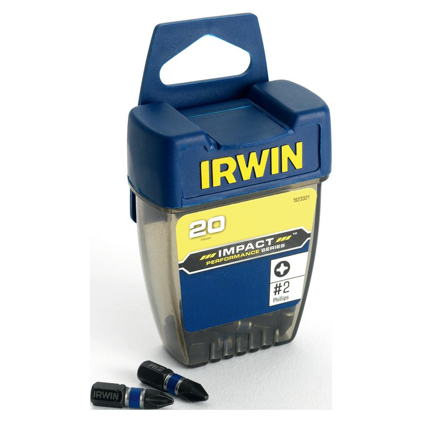 Irwin PZ2 x 25mm Pozi Screwdriver Bit Pack of 20