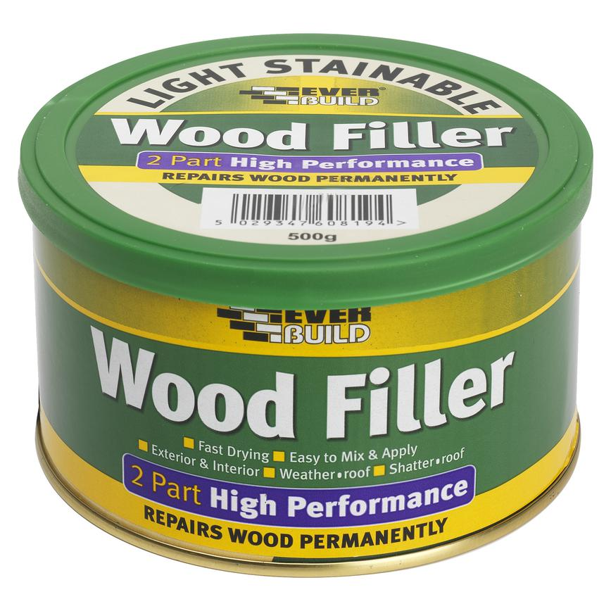 2 Part Stainable Wood Filler Light 500g