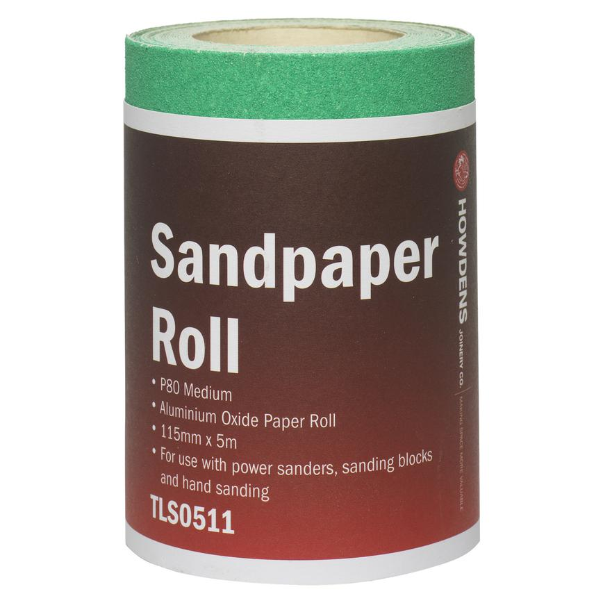 P80 Medium Aluminium Oxide Sandpaper Roll