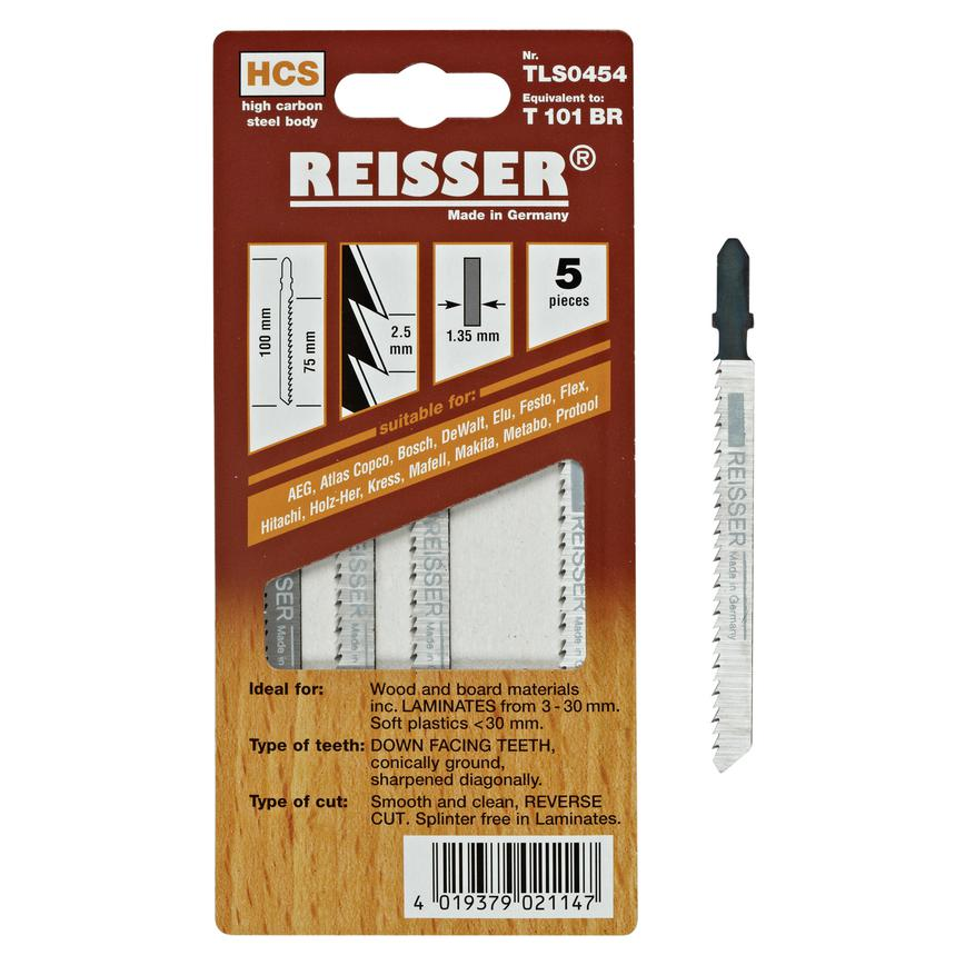 Reisser (T101BR) for wood and board materials including laminates 3-30mm and soft plastics less than 30mm (Pack of 5)
