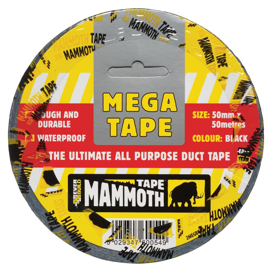 Everbuild 2MEGBK50 50mm x 50m Black Duct Tape