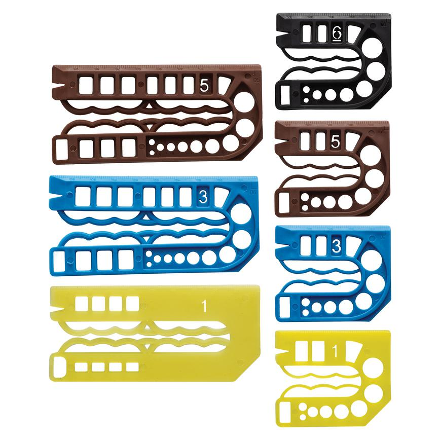 Plastic Packing Shims Assorted Sizes (Pack of 100)