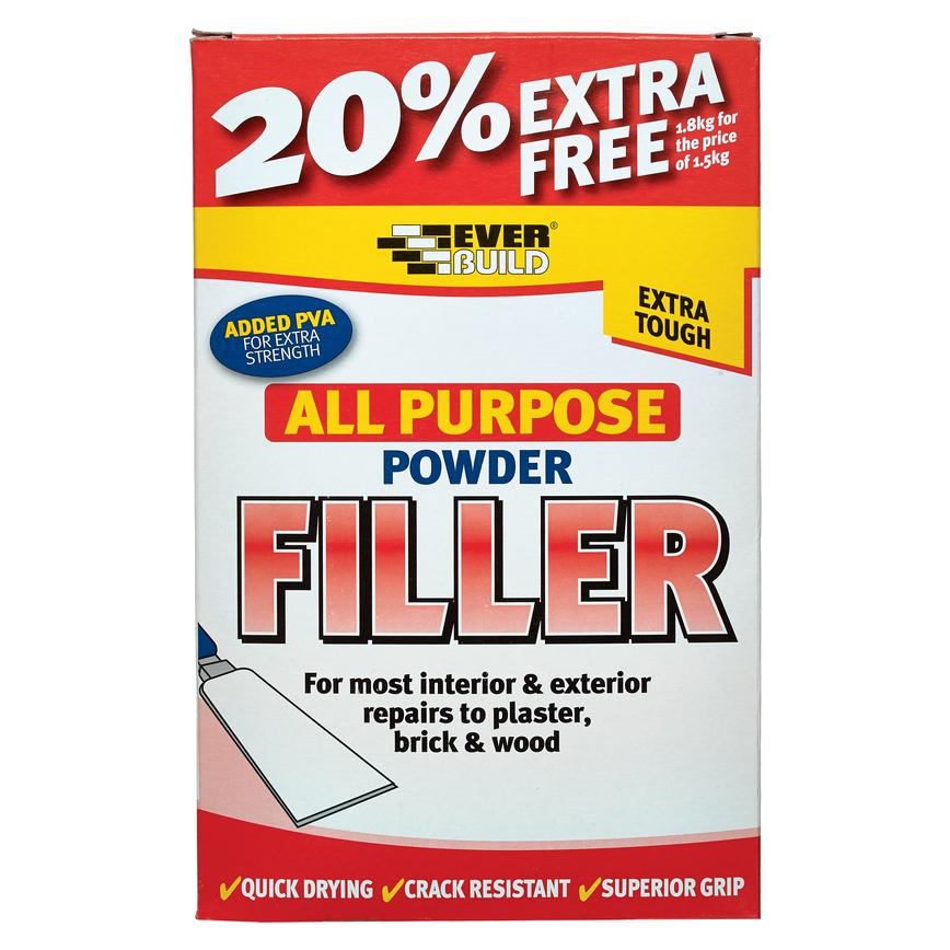 Everbuild All Purpose Powder Filler 1.8kg