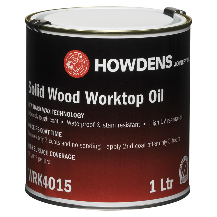 Howdens 1 Ltr Clear Wax / Satin Worktop Oil