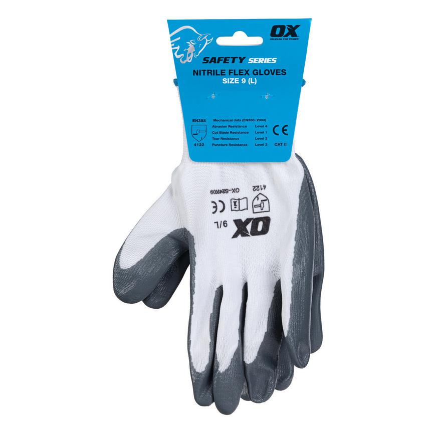 OX Non Disposable Grey Large Secure Handling Glove