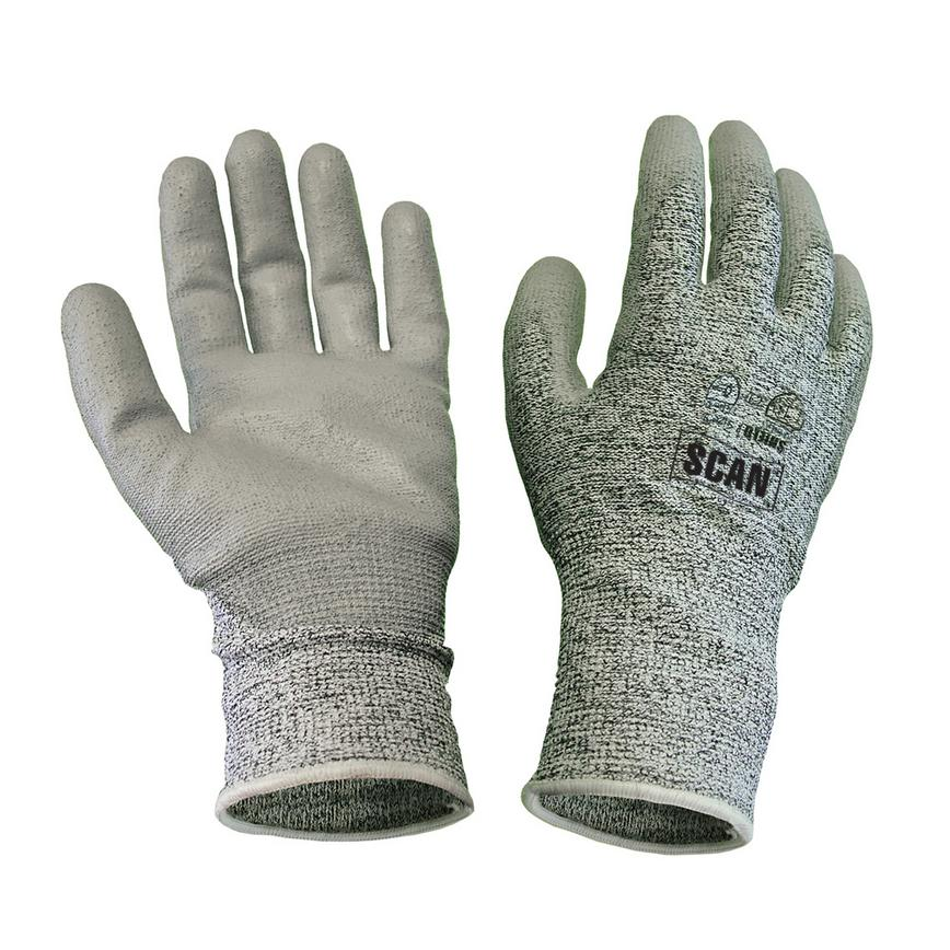 Scan Non Disposable Grey Large Glove