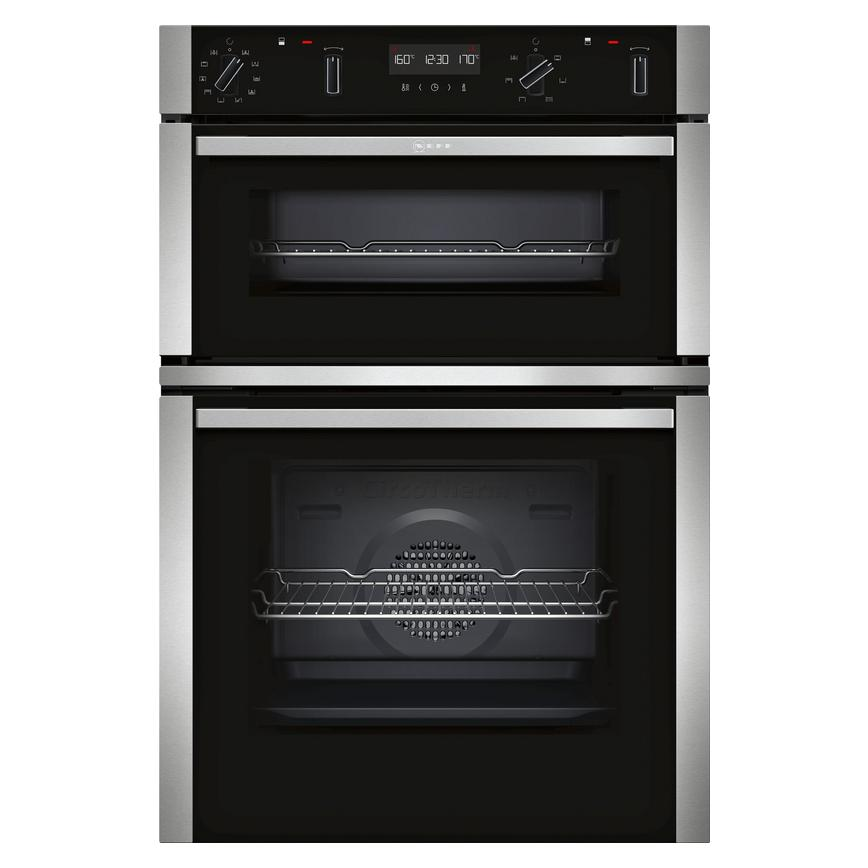 Neff U2ACM7HN0B Built In Electric 60cm Black Double Oven