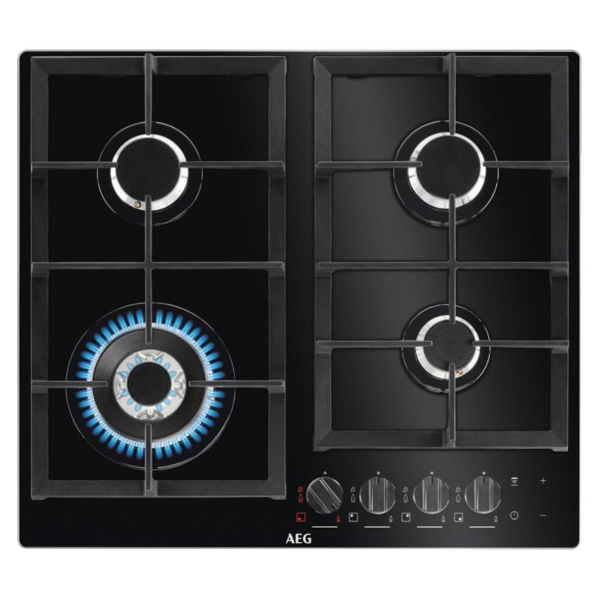 AEG HKB64540NB 60cm Black Gas Hob
