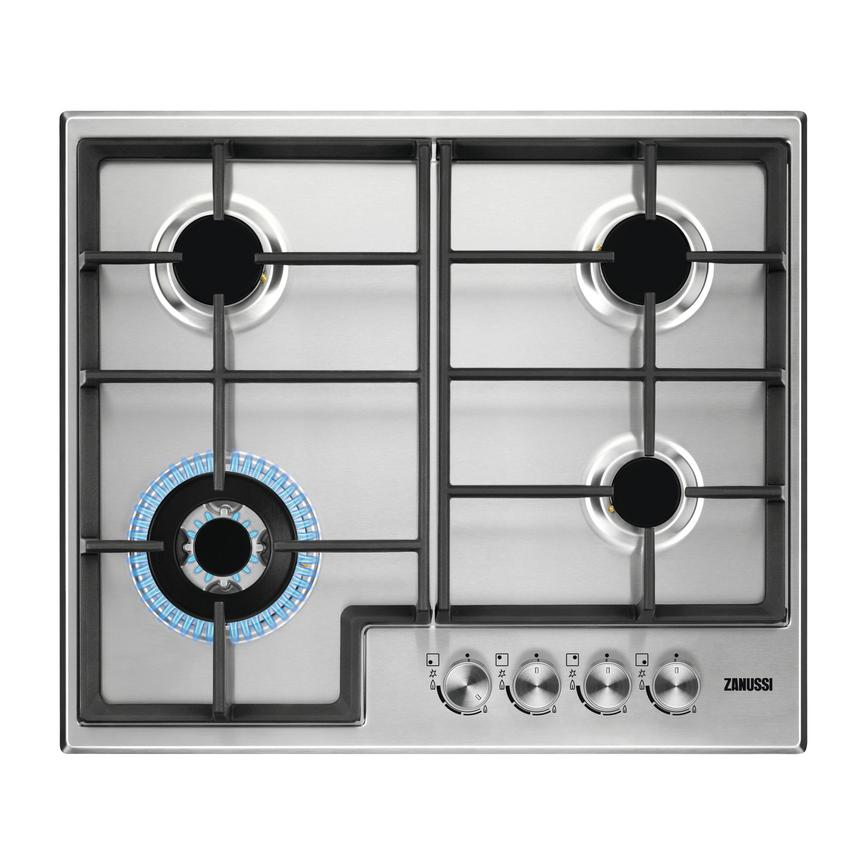 Zanussi ZGH66424XX 60cm Stainless Steel Gas Hob
