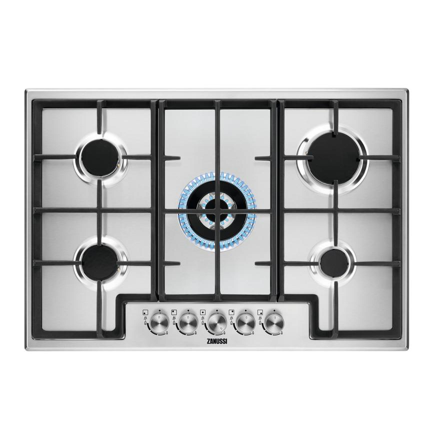 Zanussi ZGH76524XX 75cm Stainless Steel Gas Hob