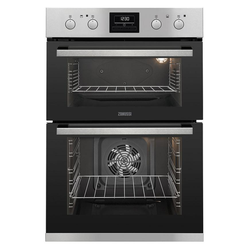 HZA4600 Zanussi BI Double Oven Stainless Steel