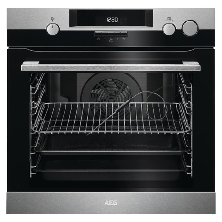 AEG BSK574221M Built In Electric 60cm Stainless Steel Single Oven