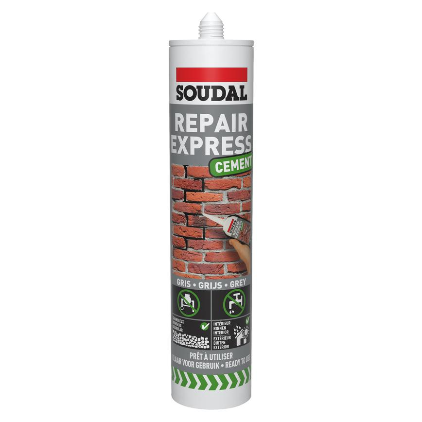 Soudal 125786 380ml Grey Building Sealant Pack of 12