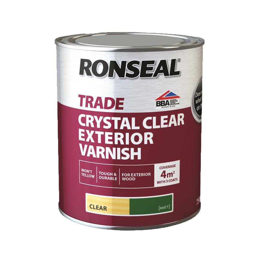 GAR5153 Ronseal Clear Ext Varnish Matt 750Ml