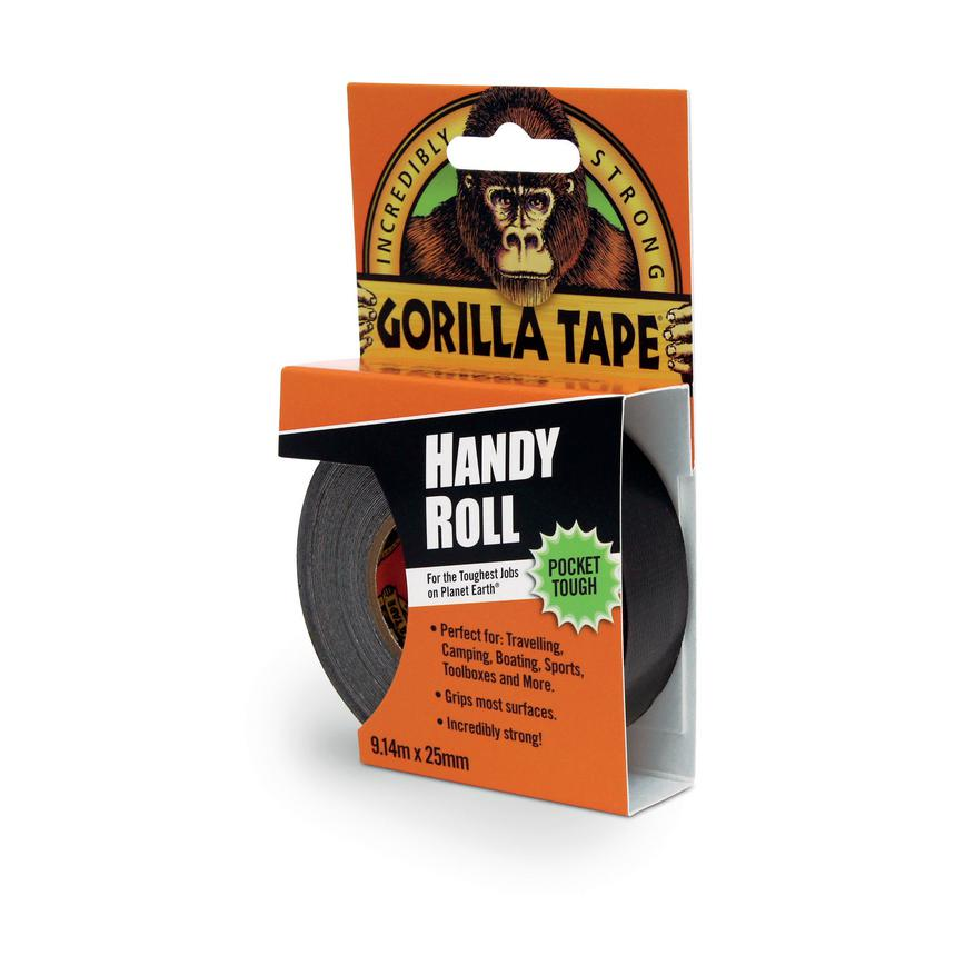 Gorilla Glue 3044401 25mm x 9m Black Cloth Tape Pack of 12