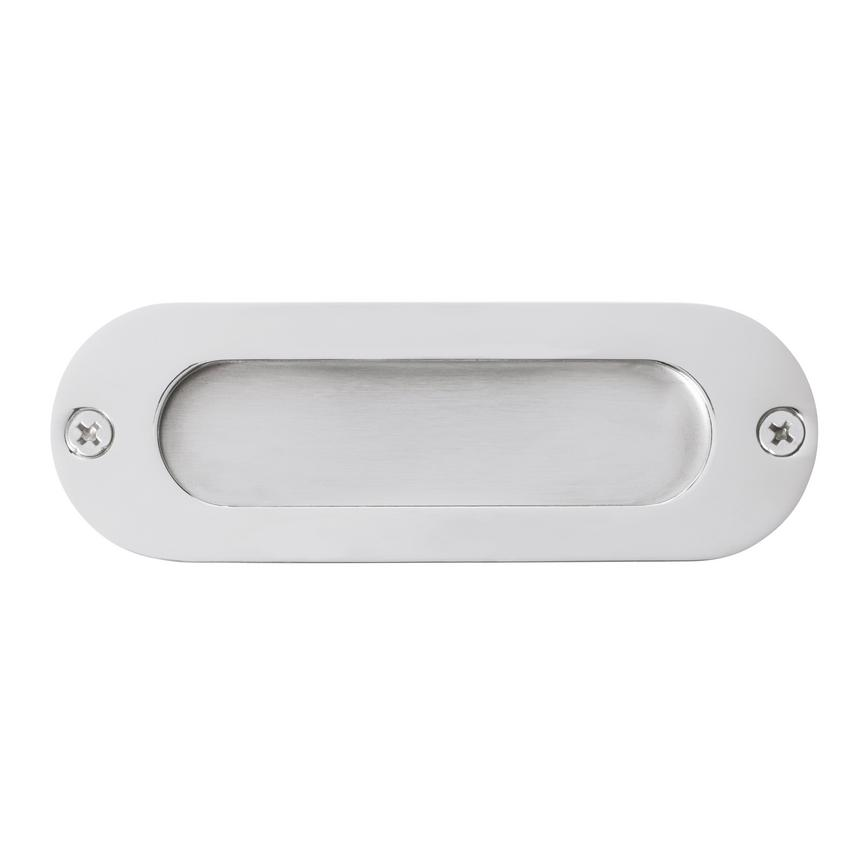 Eclipse Oval Flush Pull - Satin Stainless Steel