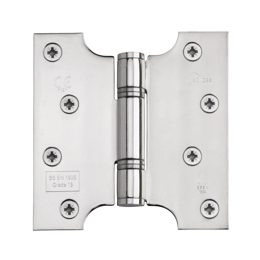 Eclipse 102mm x 102mm Polished Stainless Steel Grade 13 Fire Door Hinge