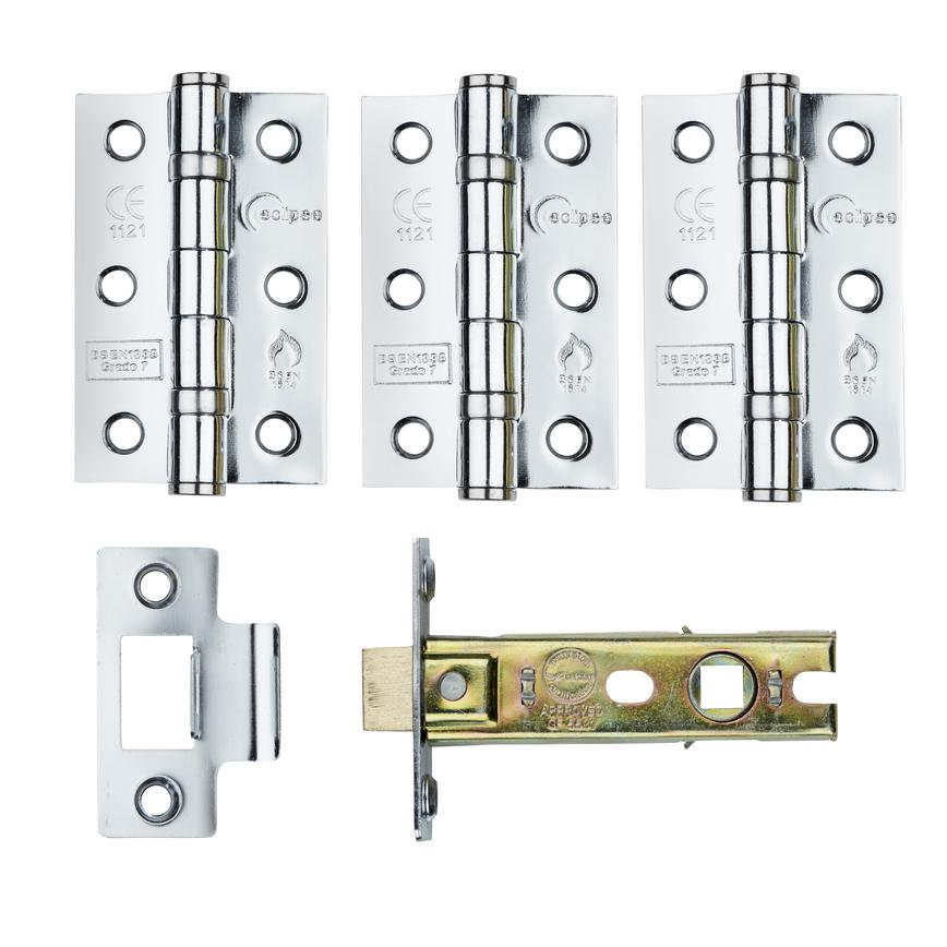 Polished Chrome Premium Hinge Pack