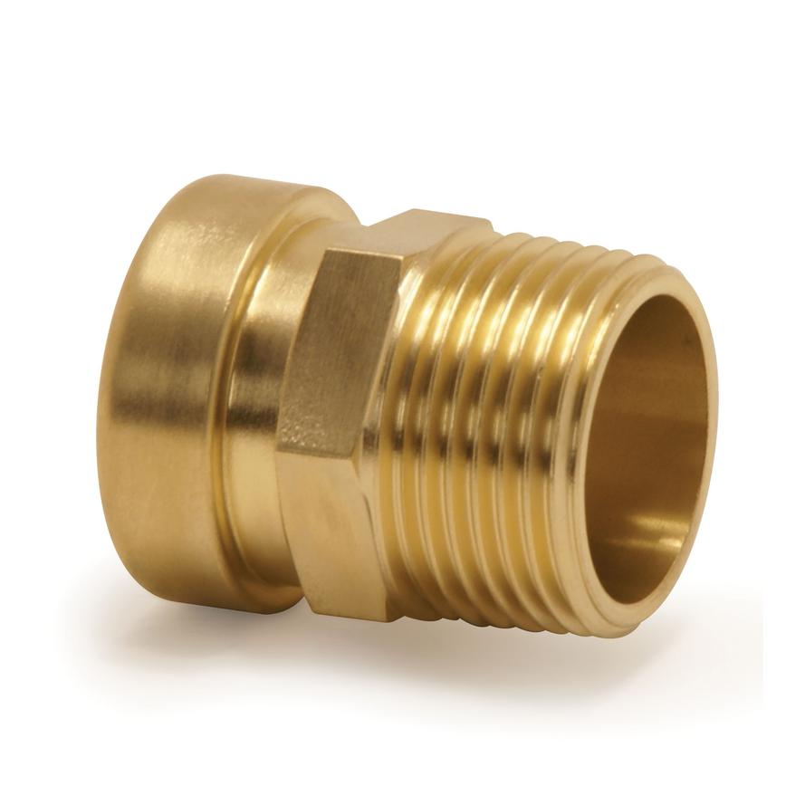 Tectite 75515 Brass Push Fit Male Coupler 15mm x ½""