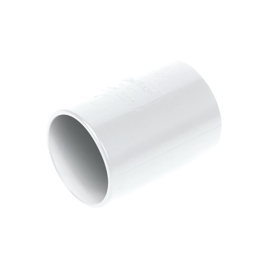 FloPlast ABS Solvent Weld Waste Straight Coupler Pack of 5